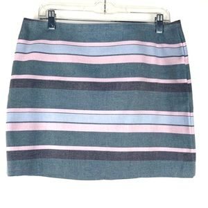 NWT Gap Striped Mini Skirt + for Easter  Size 8